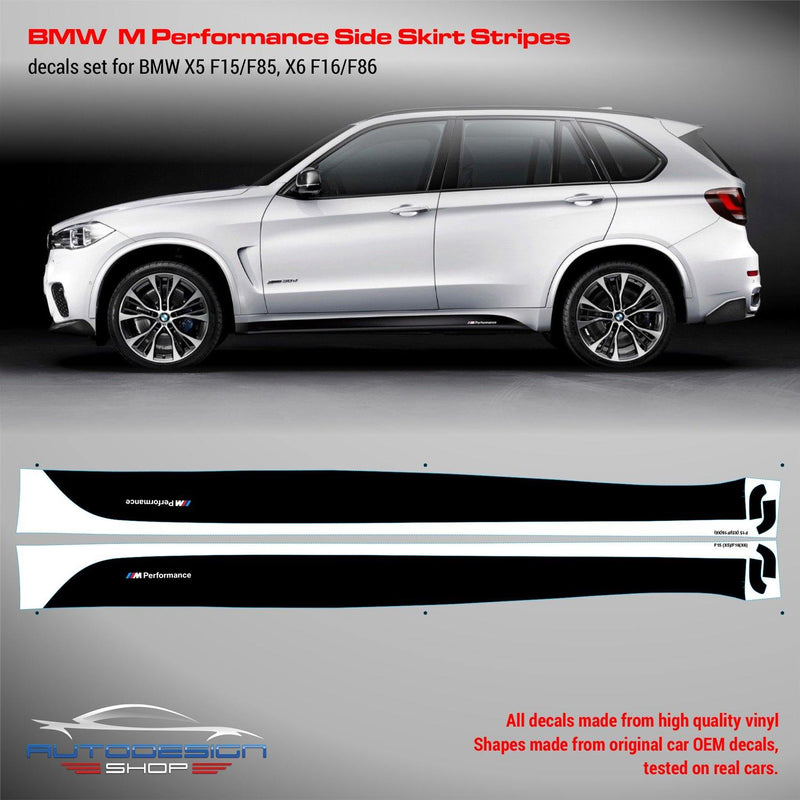 BMW M Performance Side Skirt Set of Stripes for F15 (X5)/ F16 (X6) series