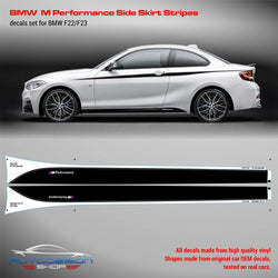 BMW M Performance Side Skirt Set of Stripes for series 2 F20/F21/F22/F23
