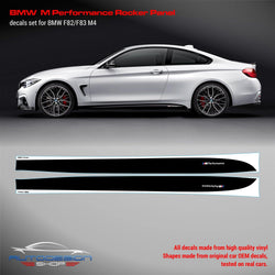 BMW M Performance Set of Side Stripes for M4 F82 / F83