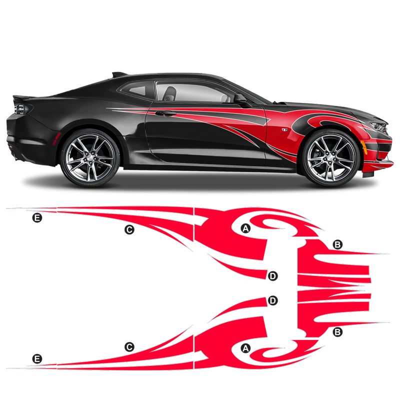 Contoured Tribal Side Graphic, Camaro 2010-2020