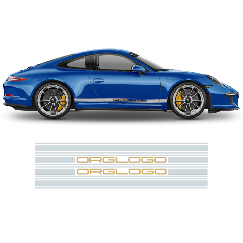 Racing side stripes in two colors, Carrera