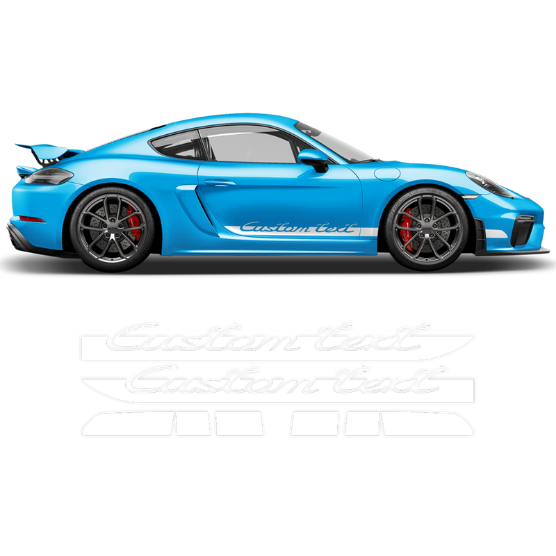 Side stripes for Cayman / Boxster 2005 - 2018