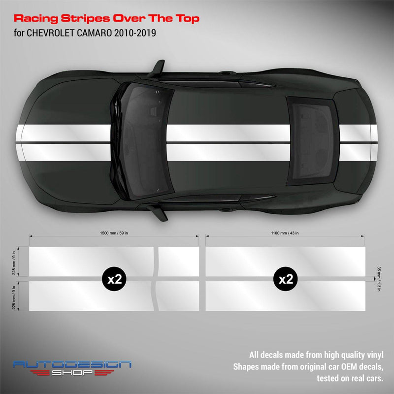 Chevrolet Camaro 2010 - 2019 Racing Stripes Over the Top