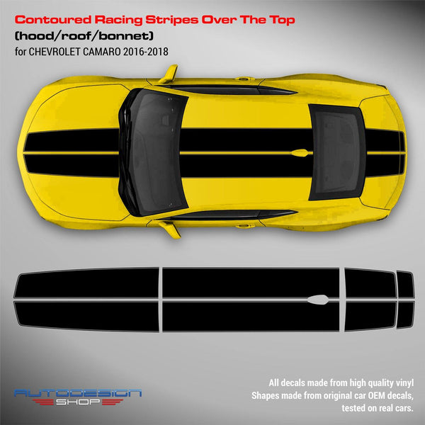 Chevrolet Camaro 2016 - 2018 Contoured Racing Stripes Over the Top