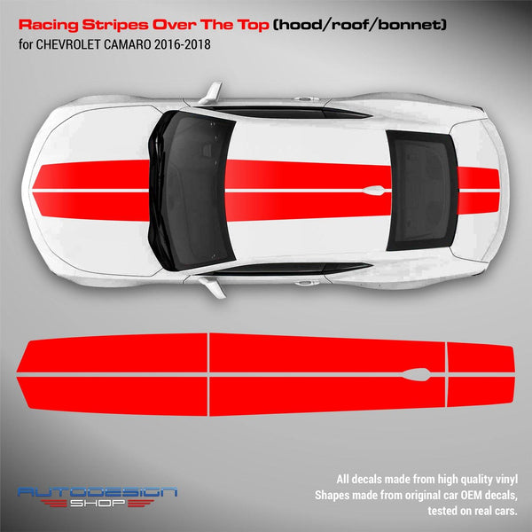 Chevrolet Camaro 2016 - 2018 Racing Stripes Over the Top