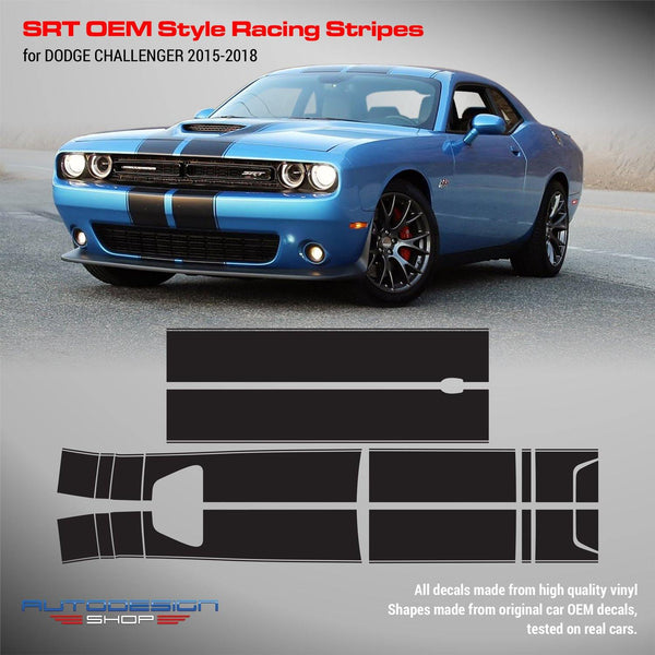 Dodge Challenger 2015 - 2018 SRT OEM Style Racing Stripes