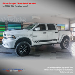 Dodge RAM side stripes design