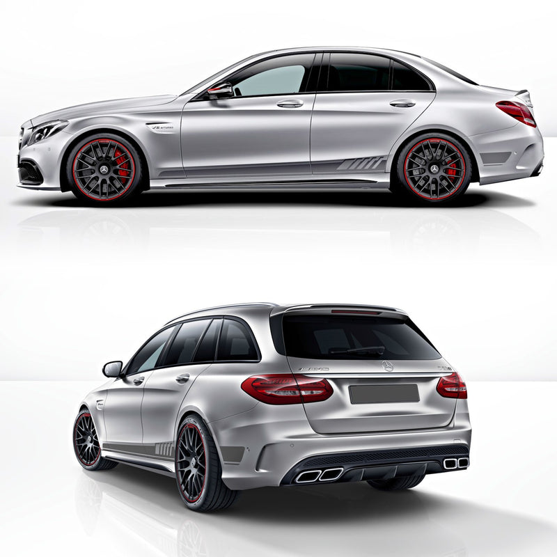 MB AMG C63 Edition 1 Rocker panel stripes decals set Decals - autodesign.shop