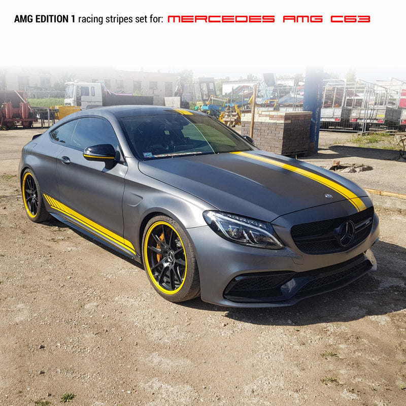 MB AMG C class edition 1 design Racing stripes Decals - autodesign.shop