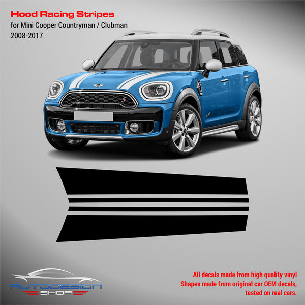 Mini Cooper 2008 - 2017 Clubman / Countryman Hood Racing Stripes
