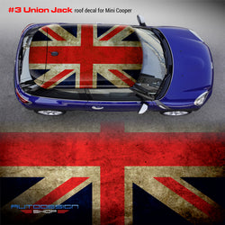 Mini Cooper ROOF decal Union Jack #3