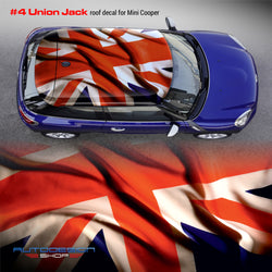 Mini Cooper ROOF decal Union Jack #4