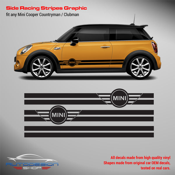 Decals Stripes Stickers For Mini Cooper