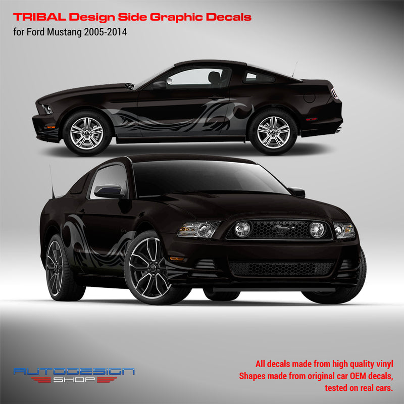 Ford Mustang 2005 - 2014 Tribal Design side decals set