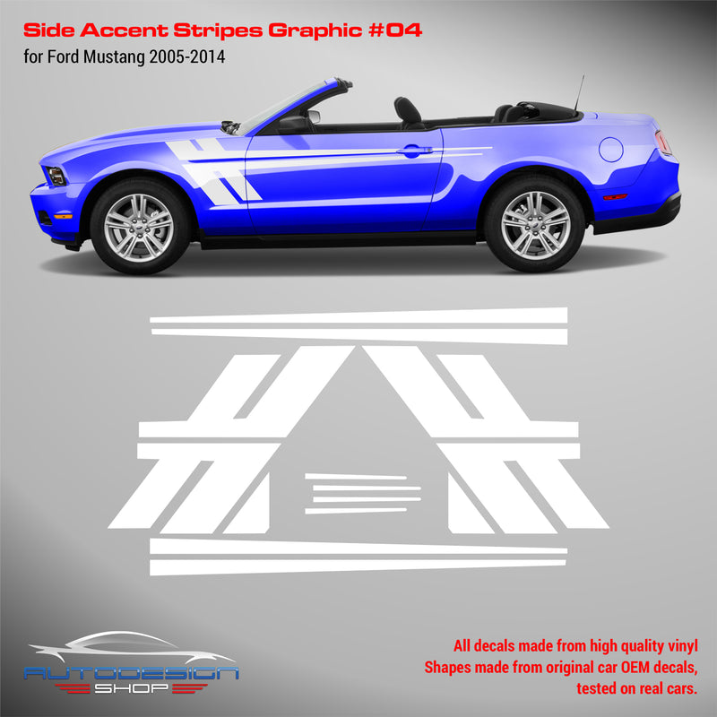 Mustang 2005-2014 Side Accent Stripes Graphic #4