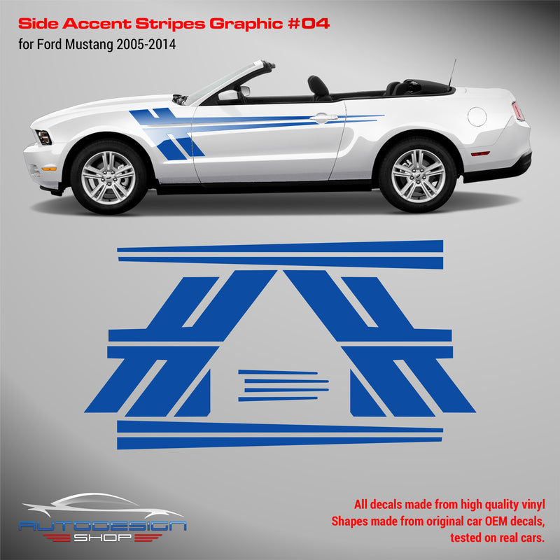 Mustang 2005-2014 Side Accent Stripes Graphic