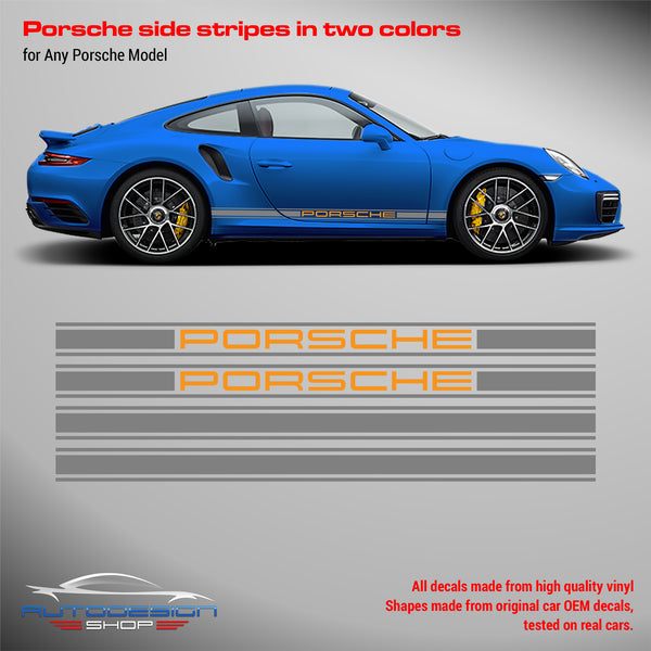 Porsche Rocker Panel decal set 2 Colors
