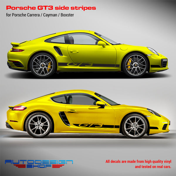 Porsche GT3 Racing side stripes for Carrera / Cayman / Boxster