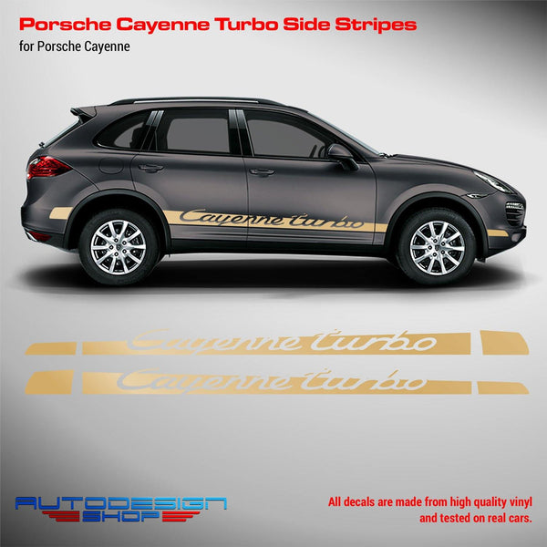 Porsche Cayenne Turbo Rocker Stripes