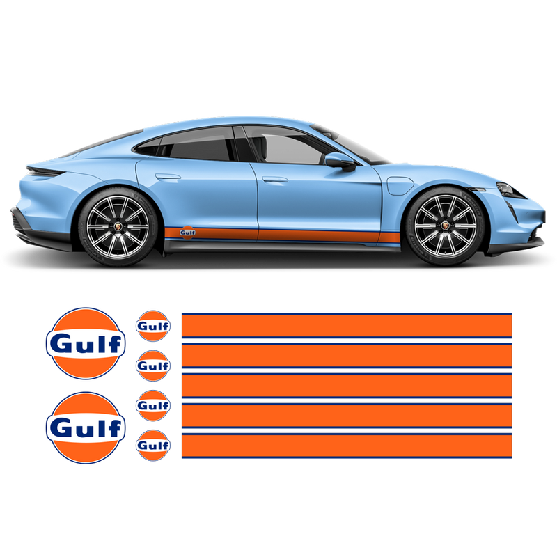 Gulf 19' Racing Stripes, for Porsche Taycan