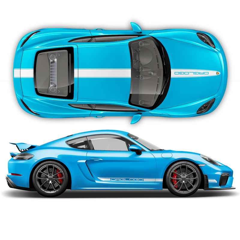 Racing Decals set in one color, Cayman / Boxster 2005 - 2018