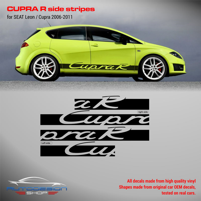 SEAT Leon Cupra R side stripes 2006-2011