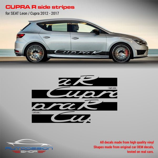 SEAT Leon Cupra R side stripes 2012-2017