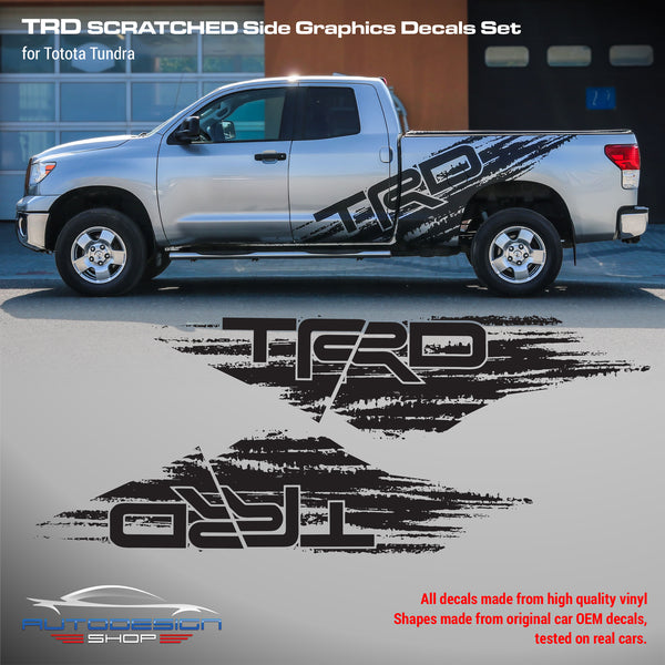 Toyota TUNDRA TRD Scratched side graphic decals set