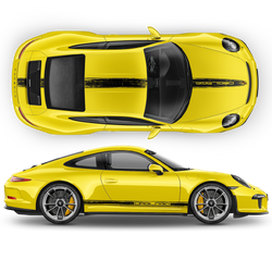 Scratched Racing Stripes set for Carrera / Cayman / Boxster 2005 - 2018