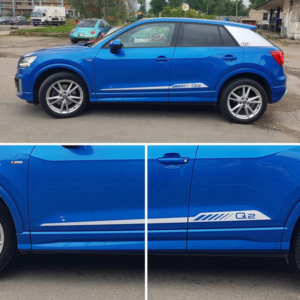 AUDI Q2 Sport Style Racing Stripes Decals - autodesign.shop