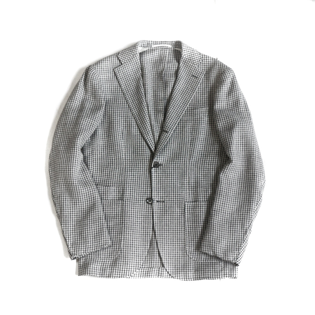 Ring Jacket Grey Houndstooth Jacket