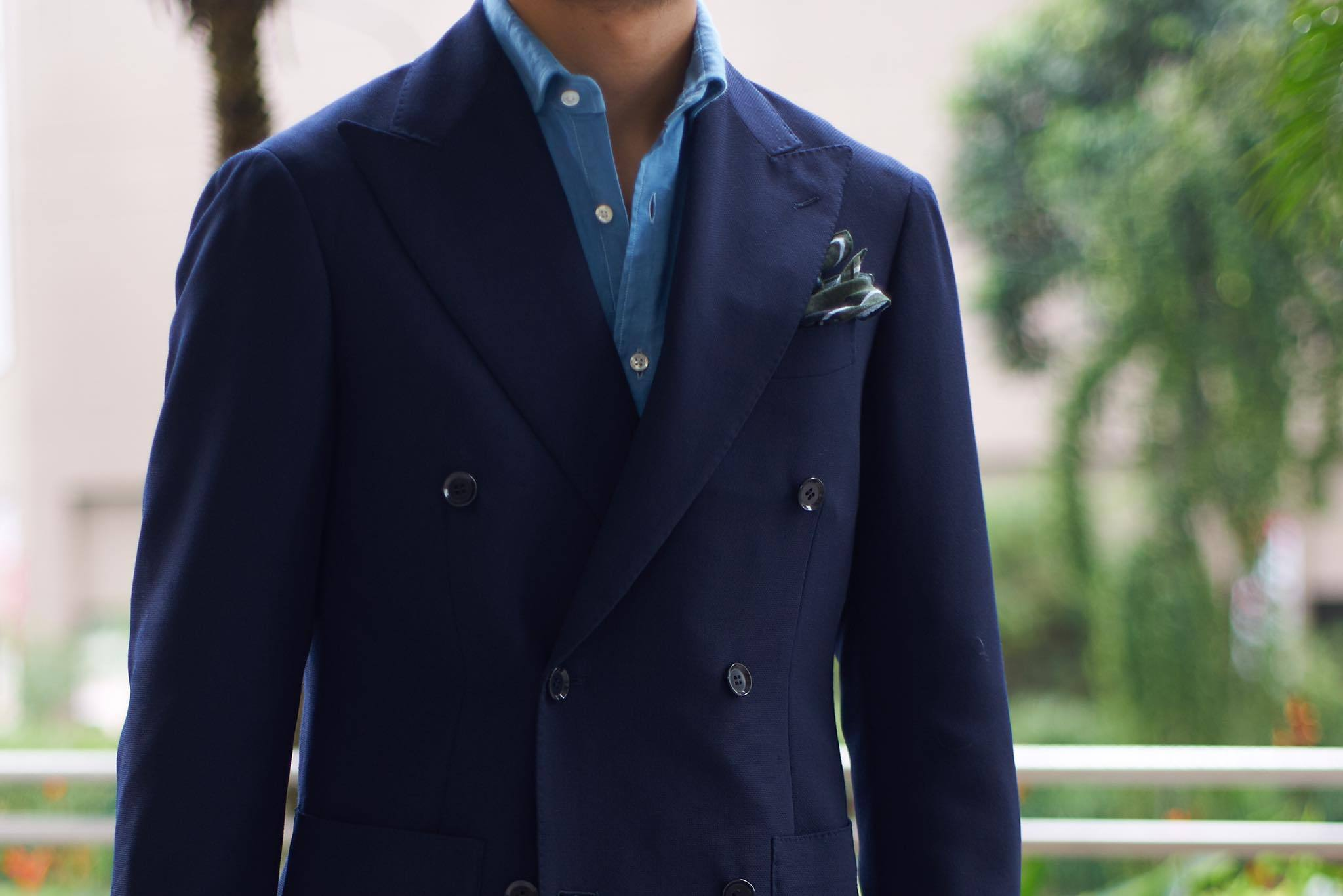 Ring Jacket ; Navy Double Breasted Jacket ; 268F