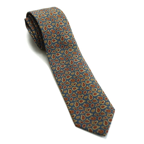 Drakes Tie - Multi Colour Paisley