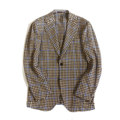Ring Jacket Brown Houndstooth Jacket