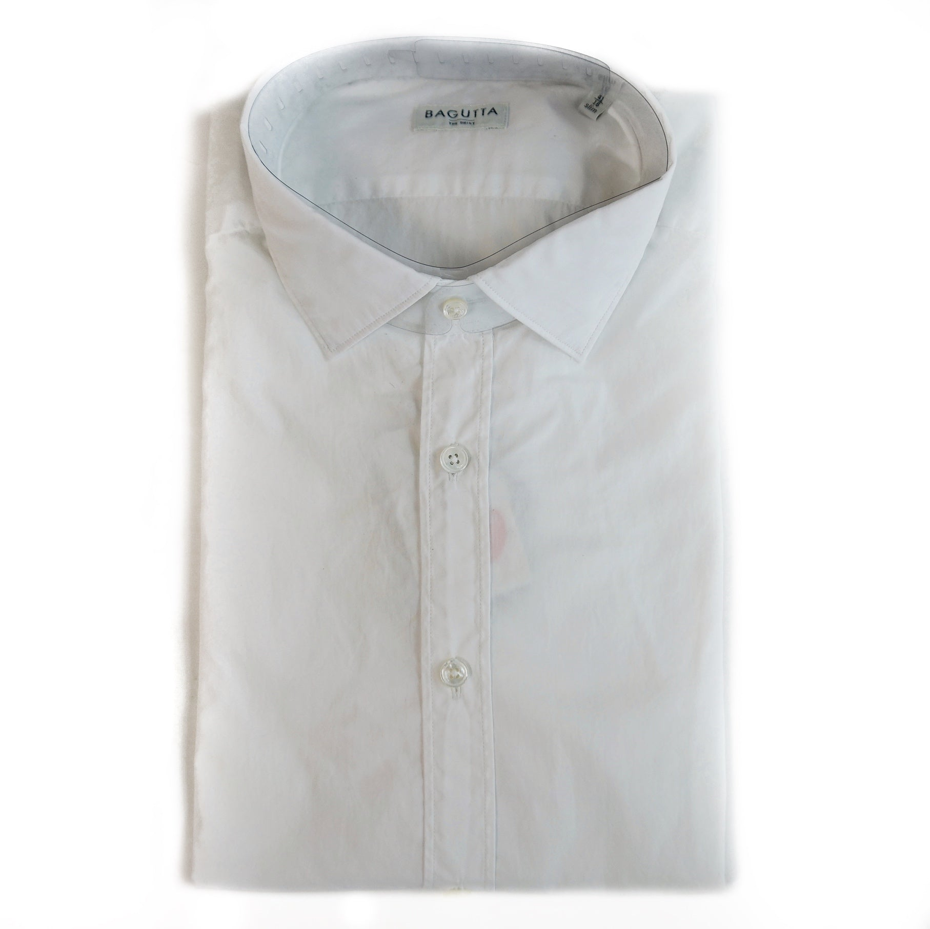 Bagutta / Berlino White Broad Cloth Dress Shirt