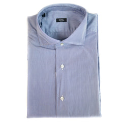 Barba Navy Pin Stripe Dress Shirt