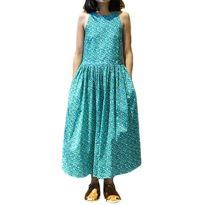 Xacus Green Printed Dress ; 6417