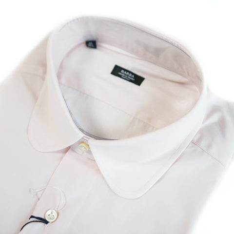 Barba Pink Round Collar Dress Shirt