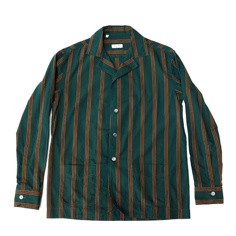 Salvatore Piccolo ; Green Striped Shirt-Jacket ; CA63-CU-VE2