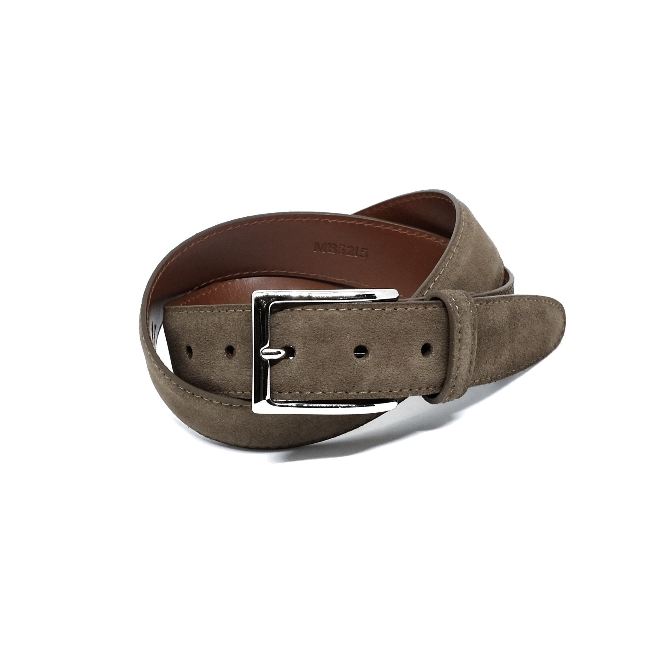 ALDEN MB5215 35mm Brown Suede Belt & Buckle