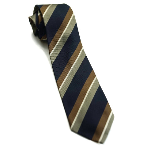 Drakes Tie - Brown Stripes
