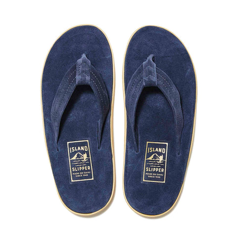 Island Slipper Classic Suede Navy Thong Sandals