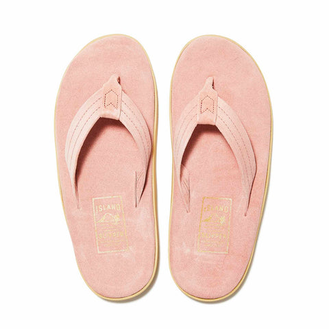 Island Slipper ; Classic Suede Pink Thong