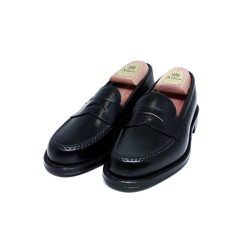 ALDEN 987 Leisure Hand Sewn Black Shell Cordovan Loafer