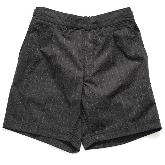 COLONY CLOTHING / POOL SIDE SHORTS Seersucker Black Stripe / CC20-SW02