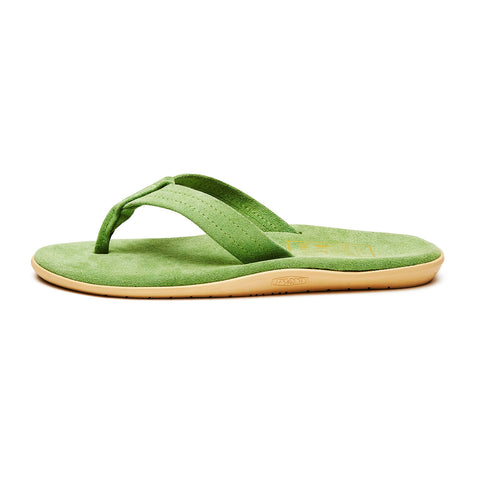 Island Slipper Pre-Order; Classic Suede Kelly-Green Thong