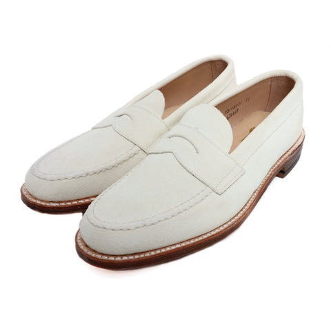 ALDEN 62446F White Bucks Unlined Penny Loafer