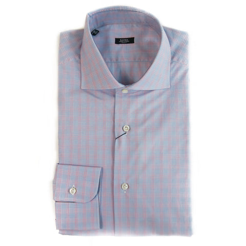 Barba Gingham Dress Shirt