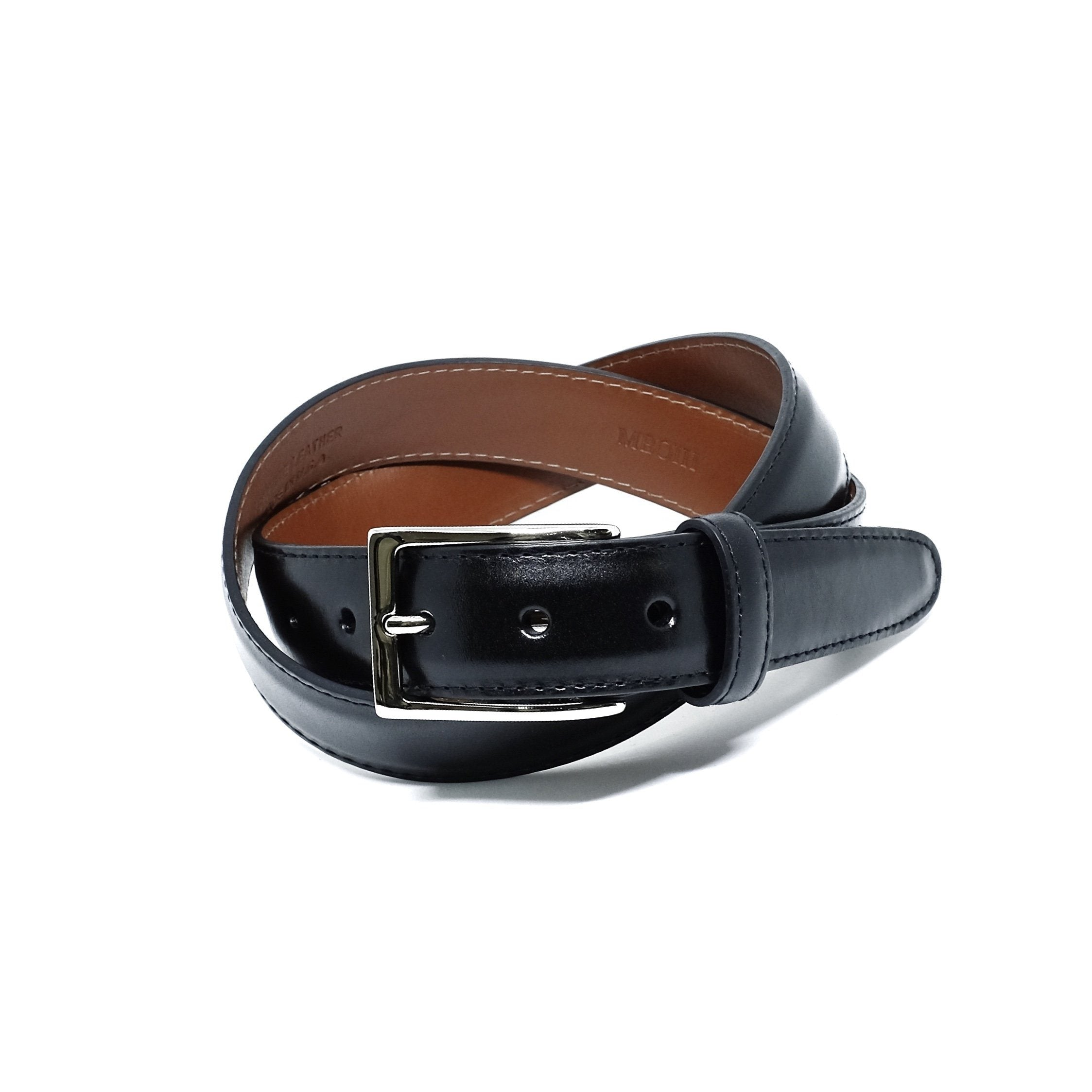 ALDEN MB0111 Black Calf Belt & Buckle