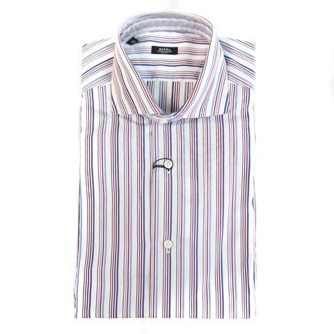 Barba Red Stripe Dress Shirt